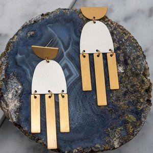 Geo Chandelier Earrings